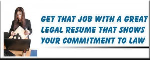 Legal resume writing service